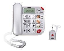 Brondi 10273020 Super Bravo PLUS Telefon Schnur Senioren mit Fernbedienung W3