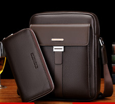 Mens Business Briefcase Leather Messenger Handbag Shoulder Bag Travel Bag
