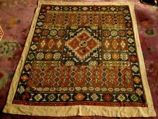 Vintage, Antique Needlepoint Embroidered Rug, Hand Made