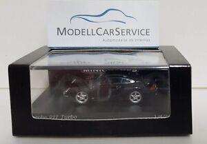 MINICHAMPS 1/87: 877069200 Porsche 911 Turbo (1995 ),Negro - Lim. Ed. 500 Piezas