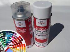 Spraydose Set 400ml Basislack in Wunschfarbe Metallic & UNI + Klarlack Autolack