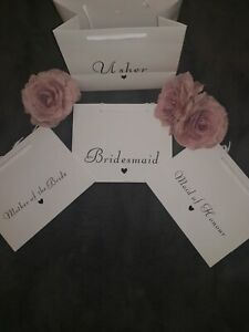PERSONALISED luxury Boutique Style Wedding Favour Thankyou Gift Bag bridesmaid