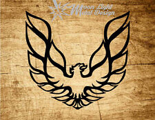 Firebird Trans Am Pontiac  Metal Logo - Black