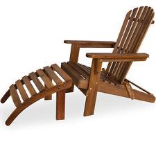 Sonnenstuhl Adirondack Akazienholz Deuba® Fußstütze Liegestuhl Deckchair Garten