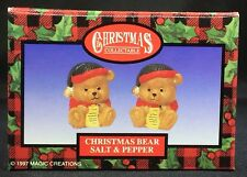 Christmas Bear Salt And Pepper Shakers - New In Box