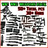 Custom 50pc WW2 Weapons Pack to fit LEGO®MiniFigs Guns + Melee weapons + Mortar