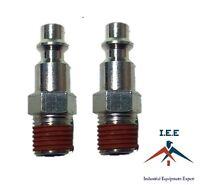 "2 pc 1/4"" Male NPT Air Compressor Hose Quick Coupler Plug Steel New"