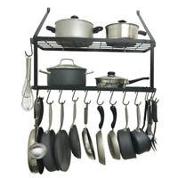 Iron Hanging Pot Holder Pan Hanger Kitchen Storage Utility Cookware Hook Racks