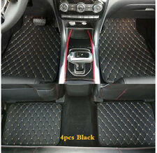 4pcs Black PU Leather  Car Floor Mats Front Rear Liner Weather Car Accessories