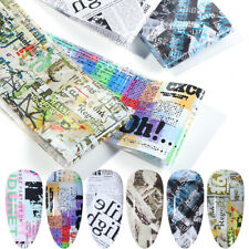 Stickers Manicure Newspaper Designs Nail Foil Nail Stickers Retro Letters