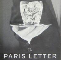 Paris Letter Playbill 2005 Roundabout Theatre John Glover Michele Pawk Rifkin