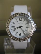 newstuffdaily: NIB AK ANNE KLEIN Crystal Accent White Rubber Ladies Watch