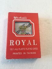 Brand New ROYAL Plastic Washable Playing Cards