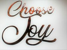 "Choose Joy Metal Wall Art Accent Copper/Bronze 12"" x 10 1/2"""