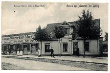 1907, AK, Gruss aus Marwitz bei Velten, Consum-Waren-Halle von Hugo Bluth, gel.