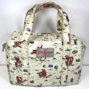 Cath Kidston London Ltd. Cowboy Print Oilcloth Zip Handbag Bag 26x19cm