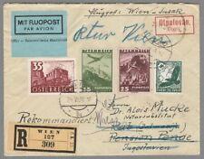 1938, Rekobeleg Wien-Rab/Jugoslawien retour, Misch. Ö/D (AF)