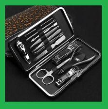 Set Trousse Manucure 12 Pièces Pedicure Manicure Kit Coupe Ongles Pince comédons