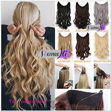 Thick Long Human Remy Halo Body Wave Secret Invisible Wire Hair Extension 100g
