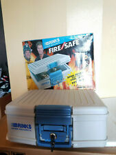 Brinks Home Security Fireproof Lock Box Safety Emergency Survival w/Original Box