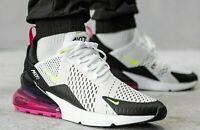 Nike Air Max 270 White Volt Black Fuchsia AH8050-109 Running Shoes Men's NEW