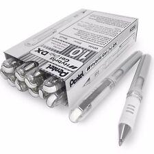 Pentel Hybrid Gel Grip métallisé stylo - 1.0 mm stylo à bille – Métallique Boîte Blanche de 12