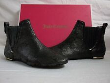 Juicy Couture Size 6 M Brighton Leather Black Matte Ankle Boots New Womens Shoes