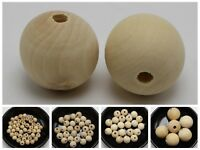 Jeweley Craft DIY Natural Untreated Plain Wood Round Beads Wooden 8mm-28mm