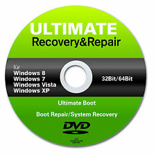 Recovery & Repair CD DVD pour Windows 10+8+win7 + XP 32+64 Bits ✔ Acer Asus Lenovo