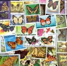 PAPILLONS collections de 25 à 700 timbres différents