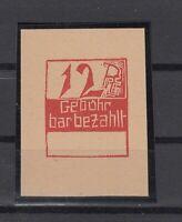 BY6995/ GERMANY – RUSSIAN ZONE – FRANKENAU – MI # 1 UNUSED SIGNED RICHTER
