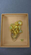 Rare Kirks Folly Moon Angel Cherub Cupid Pin Brooch  (GNK)