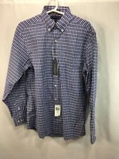 NEW Tommy Hilfiger Button Down Shirt Men Medium Blue Purple Regular Fit MSRP $69
