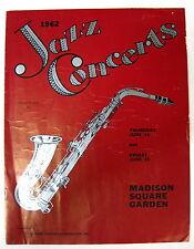 Sonny Rollins Madison Square Garden 1962 Concert Program Brubeck McRae Krupa +