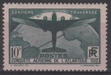 "FRANCE STAMP TIMBRE 321 "" TRAVERSEE ATLANTIQUE SUD 10F VERT "" NEUF xx TTB  N162"