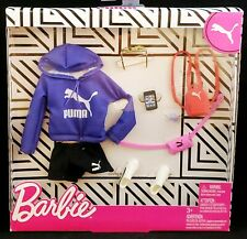 Puma Barbie Fashion Pack Purple Hoodie, Black Shorts, Gym Shorts & Accessories