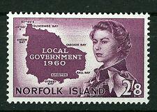 NORFOLK ISLAND 1960 LOCAL GOVERNMENT SG40 IMPRINT BLOCK OF 4 MNH