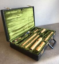 Vintage   Moeck   3 Ahorn Blockflöten Flöten   Im Samt Koffer   80er    #G2