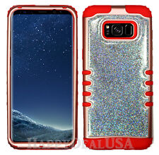 for Samsung Galaxy S8 & Plus KoolKase Hybrid Cover Case - Rose Gold Glitter