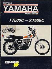 Yamaha Tt500 And Xt500 Reparación Manual Enduro XT Tt 500 Motocicleta Cycleserv