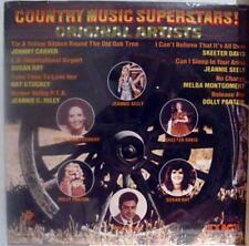 Various - Country Music Superstars LP Mint- EX 229 Vinyl 1980 Record