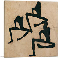 Composition with Three Male Nudes 1910 Canvas Art Print by Egon Schiele