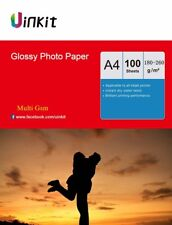100 Sheets A4 180- 260 Gsm High Glossy Photo Paper Inkjet Paper Printer Uinkit
