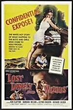 LOST LONELY AND VICIOUS Movie POSTER 27x40 Ken Clayton Barbara Wilson Lilyan