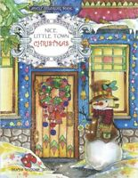 Christmas Little Town Adult Colouring Book Festive Winter Snow Gift Village