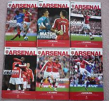 Arsenal Home Programmes 2009/10