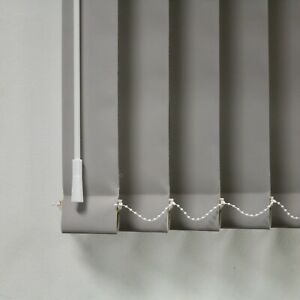 "Light Grey Blackout Louvres 3.5"" Vertical Blind Replacement Slats"