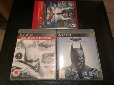 Batman Arkham Trilogía Paquete: asilo + City + Origenes-PlayStation 3 PS3 Juegos