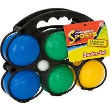 Plastic French Boules Balls PETANQUE Jack Carry Case Garden Beach Games Set of 6