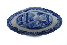 Spode Italian Blue White Open Candy Dish Oval